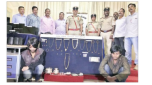 Belgaum | A Revolver, 20 Live Rounds, Stolen Gold ornaments and Silver Recovered by Belgaum Police