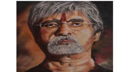 Ajit Aurwadkar, A Belagavi artist's colourful tribute to Amitabh Bachchan