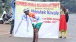 Belagavi teenAbhishek Navale eyes two world records
