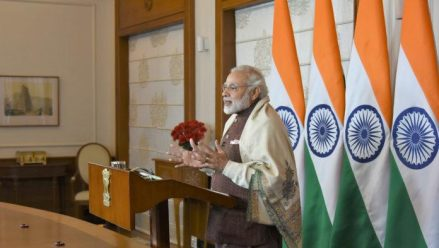 Belgaum | PM Modi addresses via video conference to large gathering in Belagavi