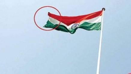Belgaum | Largest National Flag brought down post damage due to weather
