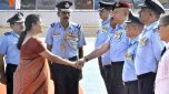 Defence Minister Nirmala Sitharaman visits Airmen Training School at Sambra, Belagavi