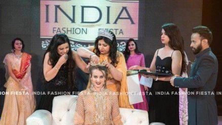 Woggish Mrs India crown goes to Russian model Settled in Belagavi