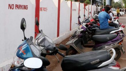 People cautious about parking vehicles in Belagavi