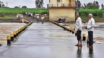 Heavy rain leads to rivers swelling and water flowing over bridges in Belagavi